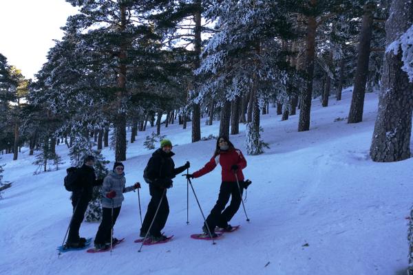 Aventura Raquetas de Nieve en Morcuera